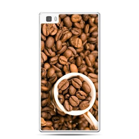 Huawei P8 Lite etui kubek z kawą