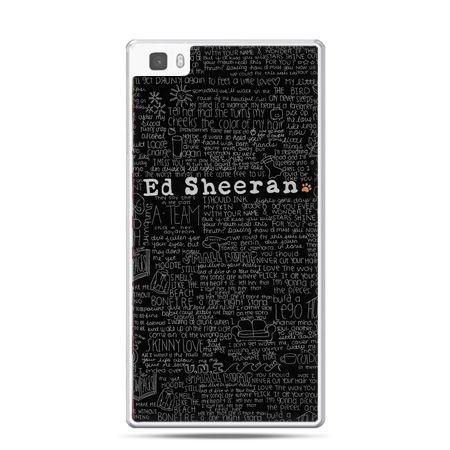 Huawei P8 Lite etui ED Sheeran czarne poziome