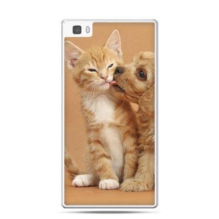 Huawei P8 Lite etui jak pies i kot