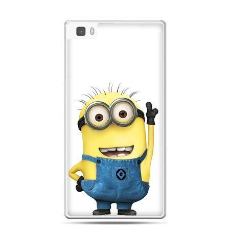 Huawei P8 Lite etui wesoły minionek ,minionki