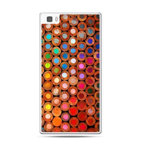 Huawei P8 Lite etui kolorowe kredki