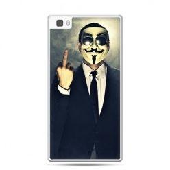 Huawei P8 Lite etui Anonimus Fuck You