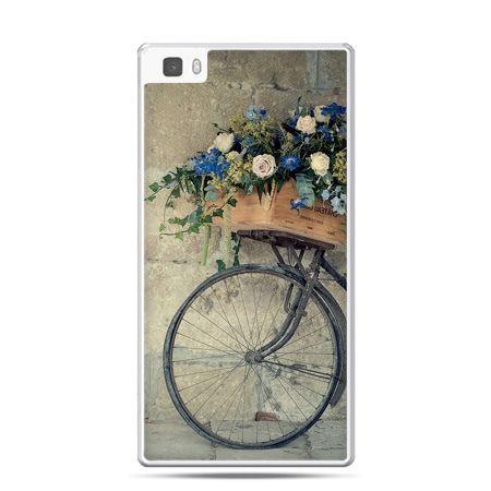 Huawei P8 Lite etui rower z kwiatami