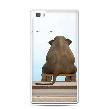 Huawei P8 Lite etui zamyślony słoń
