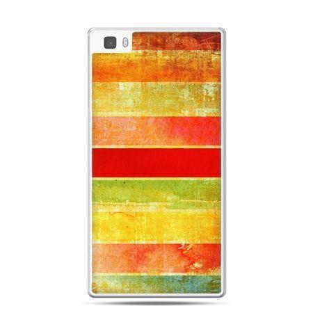 Huawei P8 Lite etui kolorowe pasy