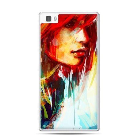 Huawei P8 Lite etui kobieta akwarela