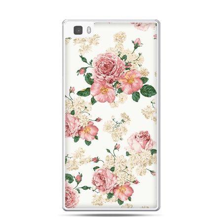 Huawei P8 Lite etui polne kwiaty