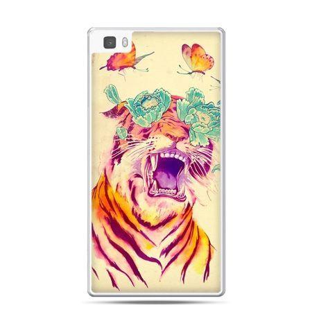 Huawei P8 Lite etui egzotyczny tygrys
