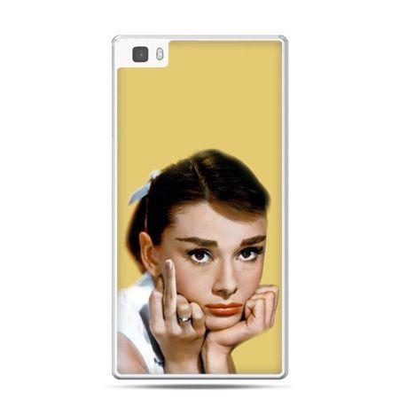 Huawei P8 Lite etui Audrey Hepburn Fuck You