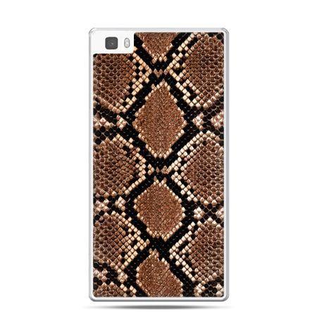 Huawei P8 Lite etui skóra węża