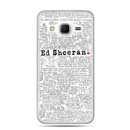 Galaxy Grand Prime etui Ed Sheeran białe poziome