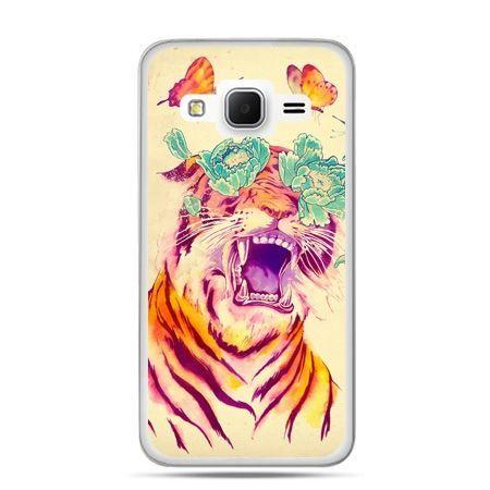 Galaxy Grand Prime etui egzotyczny tygrys