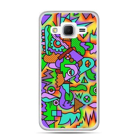 Galaxy Grand Prime etui kolorowa abstrakcja