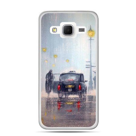 Galaxy Grand Prime etui Londyn w deszczu