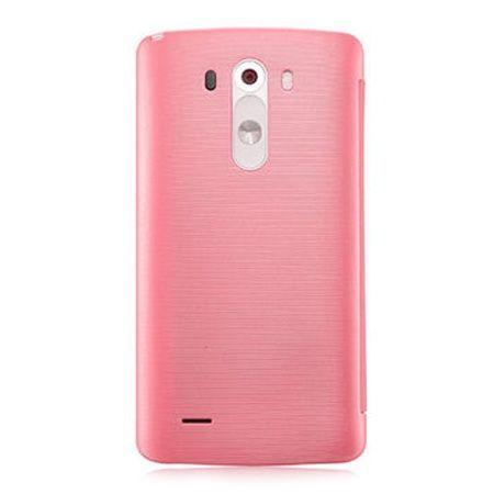 LG G3s etui Flip S View Circle różowy