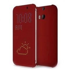 HTC Desire 820 etui Flip Dot View czerwony