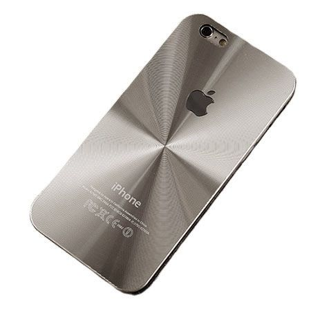 iPhone 5,5s srebrne plecki aluminiowe efekt cd