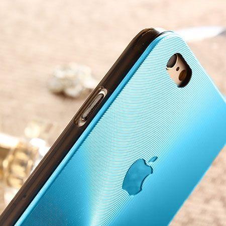 iPhone 5, 5s niebieskie plecki aluminiowe efekt cd