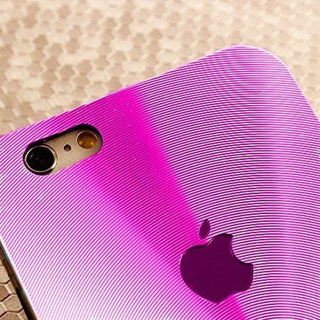 iPhone 5, 5s różowe plecki aluminiowe efekt cd