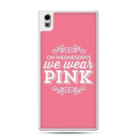 HTC Desire 816 etui różowe z napisem