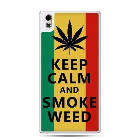 HTC Desire 816 etui Keep Calm and Smoke Weed