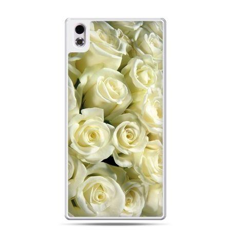HTC Desire 816 etui białe róże