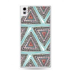 HTC Desire 816 etui Azteckie trójkąty