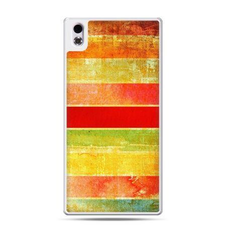 HTC Desire 816 etui kolorowe pasy