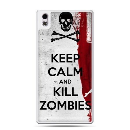 HTC Desire 816 etui Keep Calm and Kill Zombies
