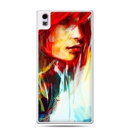 HTC Desire 816 etui kobieta akwarela
