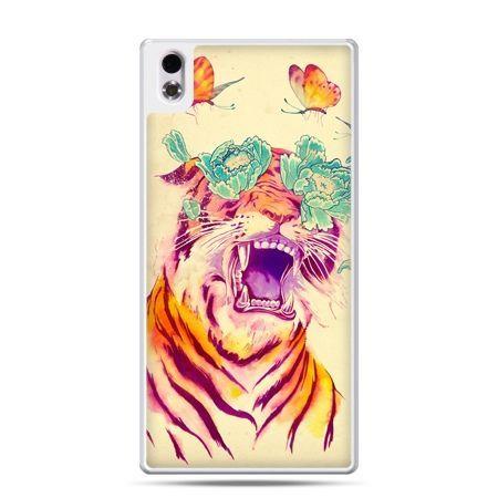 HTC Desire 816 etui egzotyczny tygrys