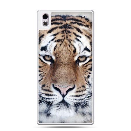 HTC Desire 816 etui śnieżny tygrys