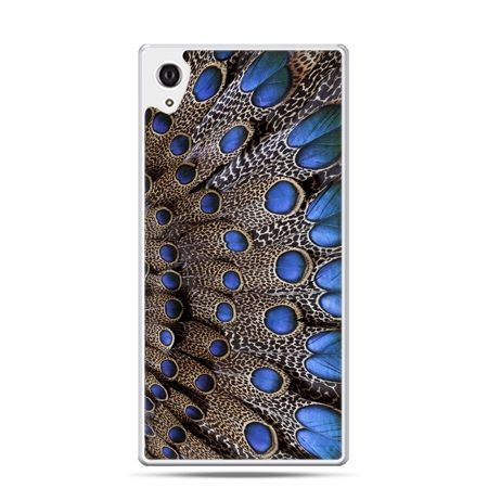 Etui Xperia Z4 niebieskie pióra