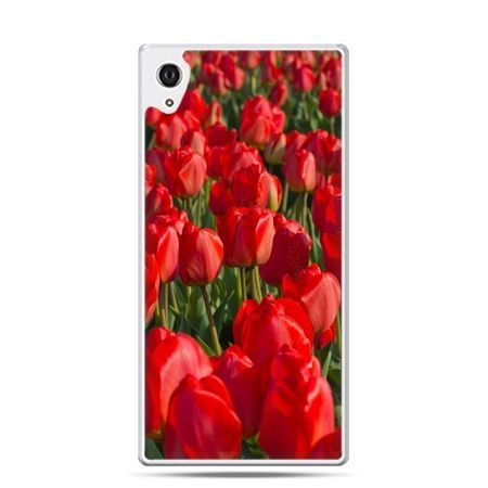 Etui Xperia Z4 czerwone tulipany
