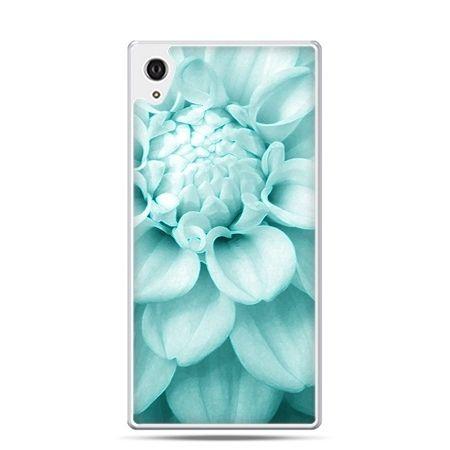 Etui Xperia Z4 niebieski kwiat dalii
