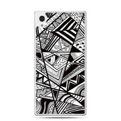 Etui Xperia Z4 czarno białe trójkąty