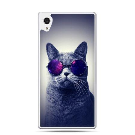 Etui Xperia Z4 kot hipster w okularach