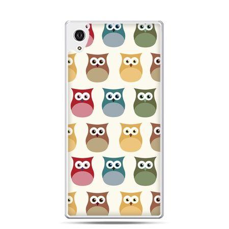 Etui Xperia Z4 kolorowe sowy
