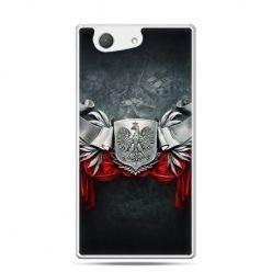 Etui na telefon Xperia Z4 compact patriotyczne -  stalowe godło