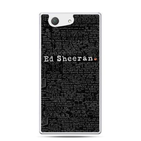 Xperia Z4 compact etui ED Sheeran czarne poziome