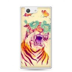 Xperia Z4 compact etui egzotyczny tygrys