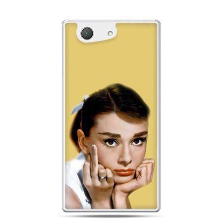 Xperia Z4 compact etui Audrey Hepburn Fuck You