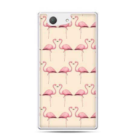 Xperia Z4 compact etui flamingi
