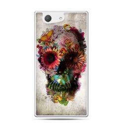 Xperia Z4 compact etui czaszka z kwiatami