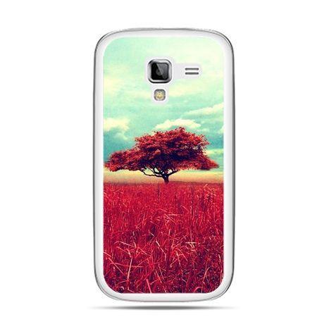 Galaxy Ace 2 etui czerwone drzewo