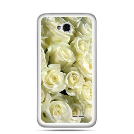 Etui na LG L70 białe róże