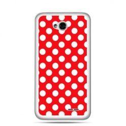 Etui na LG L70 czerwona polka dot