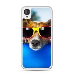 Etui dla Desire 820 pies w kolorowych okularach