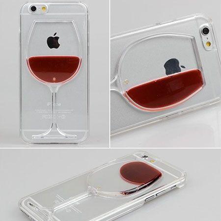 iPhone 6 / 6s etui z płynem w środku czerwone wino.