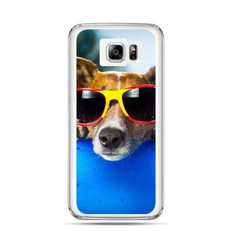 Galaxy Note 5 etui pies w kolorowych okularach